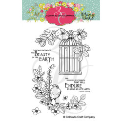 Life Lasts, Colorado Craft Company Clear Stamps -