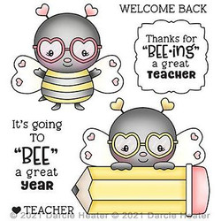 Bee Great Year, Darcie's Clear Stamps -