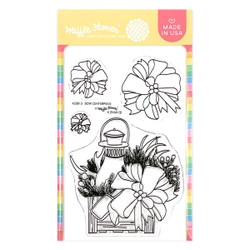 Bow Centerpiece, Waffle Flower Clear Stamps -