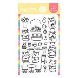 Coffee Shop Hamsters, Waffle Flower Clear Stamps -