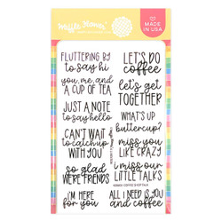 Coffee Shop Talk, Waffle Flower Clear Stamps -