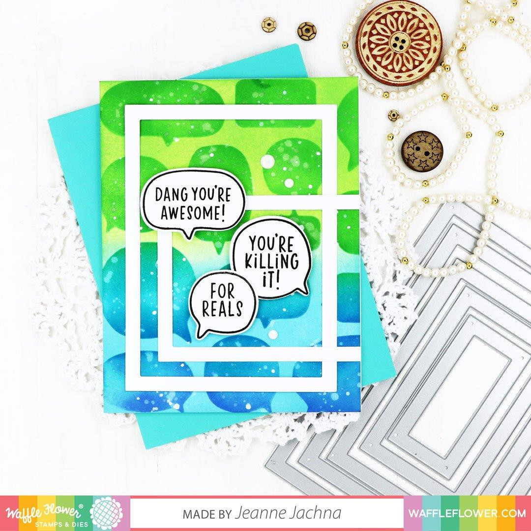 Sassy Speech Bubble, Waffle Flower Stamp & Die Combo -