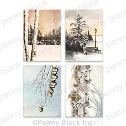 Snowfall Serenity - Set of 4 Designs, Penny Black Premium Cardstock -