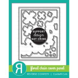 Floral Chain Cover Panel, Reverse Confetti Cuts -