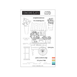 Flowers A La Carte, Concord & 9th Clear Stamps -