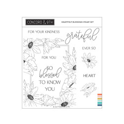 Heartfelt Blossoms, Concord & 9th Clear Stamps -