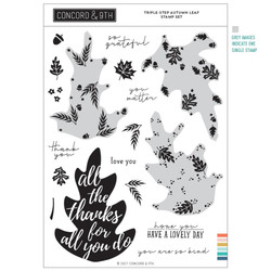 Triple-Step Autumn Leaf, Concord & 9th Clear Stamps -