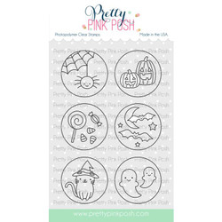 Halloween Circles, Pretty Pink Posh Clear Stamps -