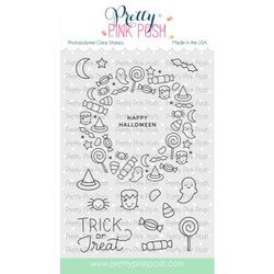 Halloween Wreath, Pretty Pink Posh Clear Stamps -