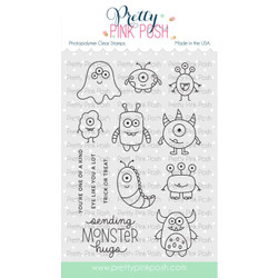 Monster Hugs, Pretty Pink Posh Clear Stamps -