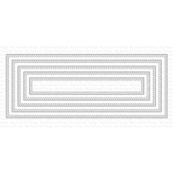Slimline Double Stitched Rectangle STAX, My Favorite Things Die-Namics -