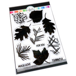Painted Leaves, Catherine Pooler Clear Stamps -
