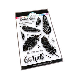 Boho Feathers, Catherine Pooler Clear Stamps -