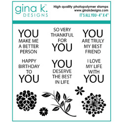 It's All You, Gina K Designs Clear Stamps -