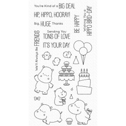 Happy Hippos by Birdie Brown, My Favorite Things Clear Stamps -