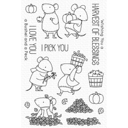 Harvest Mouse by Birdie Brown, My Favorite Things Clear Stamps -