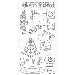 Merry Christmoose by Birdie Brown, My Favorite Things Clear Stamps -