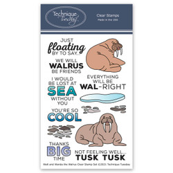 Walt and Wanda the Walrus, Technique Tuesday Clear Stamps -