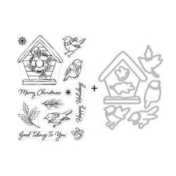 Christmas Robins, Hero Arts Stamp & Die Combo -