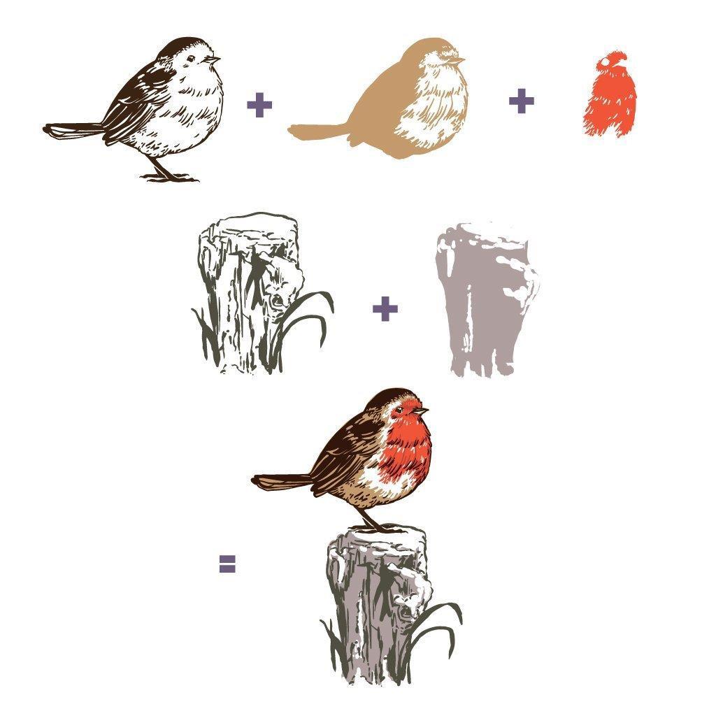 Color Layering Robin, Hero Arts Stamp & Die Combo -