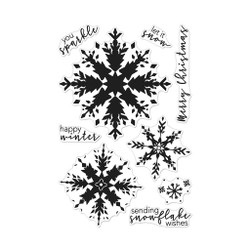 Color Layering Snowflake, Hero Arts Clear Stamps -