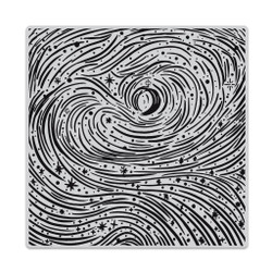 Etched Winter Swirls Bold Prints, Hero Arts Cling Stamps -