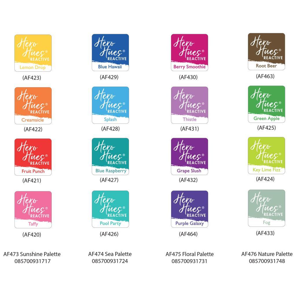 Floral Palette, Hero Arts Hero Hues Reactive Ink Cubes -