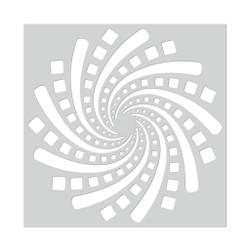 Geometric Spiral, Hero Arts Stencils -