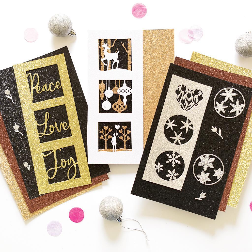 Holiday Sparkle, Hero Arts Glitter Paper -