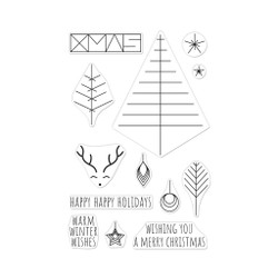 Graphic Lines Holiday, Hero Arts Clear Stamps -
