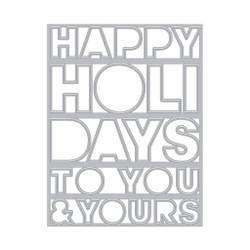 Happy Holidays Cover Plate, Hero Arts Dies -