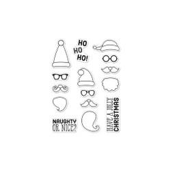 Ho Ho Ho Santa Faces, Hero Arts Clear Stamps -