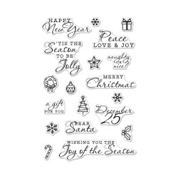 Holiday Icons and Messages, Hero Arts Clear Stamps -