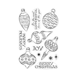 Holiday Ornaments, Hero Arts Clear Stamps -