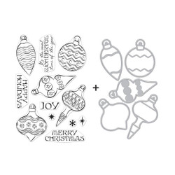 Holiday Ornaments, Hero Arts Stamp & Die Combo -