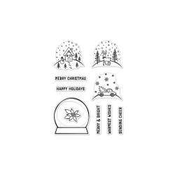 Make Your Own Snow Globe, Hero Arts Clear Stamps -