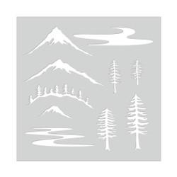 Mountain Scene, Hero Arts Stencils -