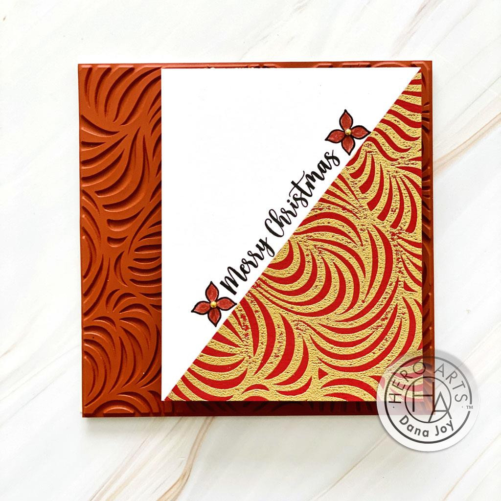 Swirl Bold Prints, Hero Arts Cling Stamps -