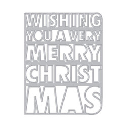 Very Merry Christmas Cover Plate, Hero Arts Dies -