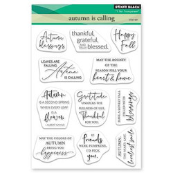 Autumn is Calling, Penny Black Clear Stamps -