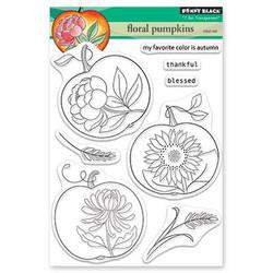 Floral Pumpkin, Penny Black Clear Stamps -