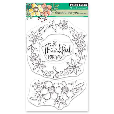 Thankful for You, Penny Black Clear Stamps -