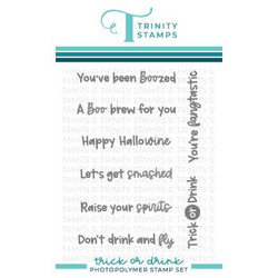 Trick or Drink, Trinity Stamps Clear Stamps -