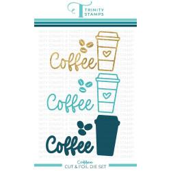 Coffee, Trinity Stamps Cut & Foil Dies -