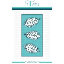 Mini Slimline Oak Leaf Panel, Trinity Stamps Dies -