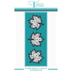 Slimline Maple Leaf Panel, Trinity Stamps Dies -