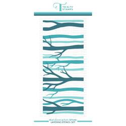 Slimline Layered Birch Forest, Trinity Stamps Stencils -