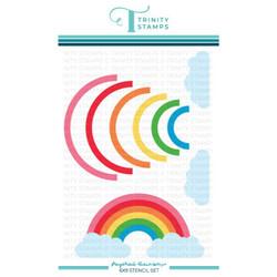 Layered Rainbow, Trinity Stamps Stencils -
