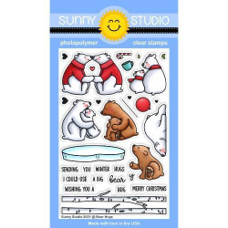 Bear Hugs, Sunny Studio Clear Stamps -