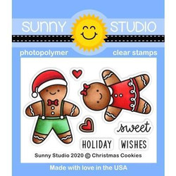 Christmas Cookies, Sunny Studio Clear Stamps -